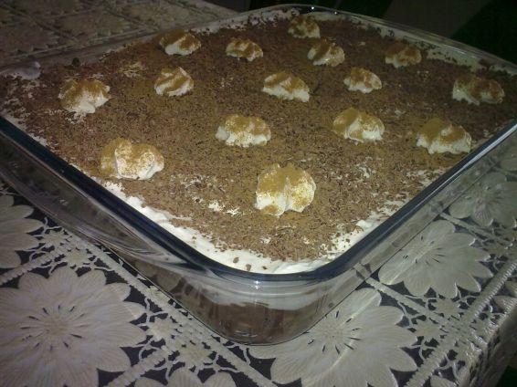 Снимка 1 от рецепта за Бисквитена торта с ябълки