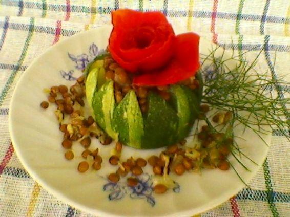 Снимка 1 от рецепта за Тиквички пълни с леща