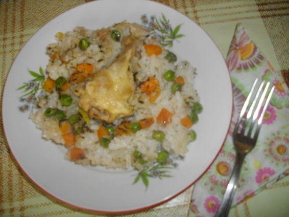Снимка 1 от рецепта за Пилешки крила с ориз