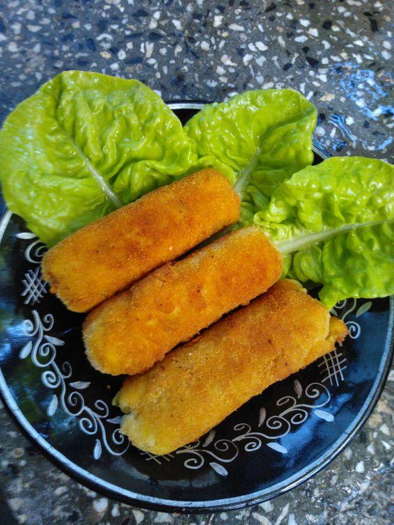 Снимка 1 от рецепта за Картофени крокети с шунка