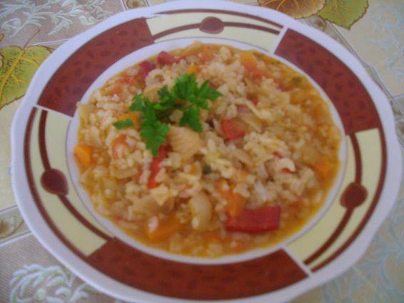Снимка 1 от рецепта за Постна бърканица със зеленчуци
