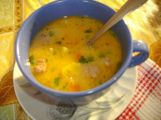 Снимка 1 от рецепта за Вкусна супа топчета