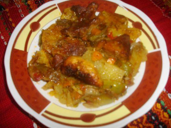 Снимка 1 от рецепта за Свинско с картофи на фурна