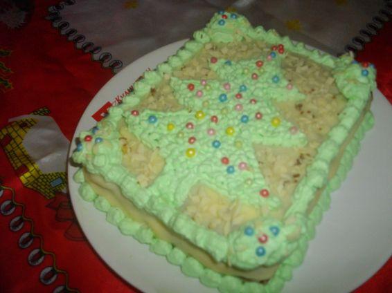 Снимка 1 от рецепта за Бисквитена торта - елха