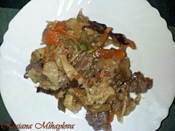 Снимка 1 от рецепта за Пиле с бамбук и гъби