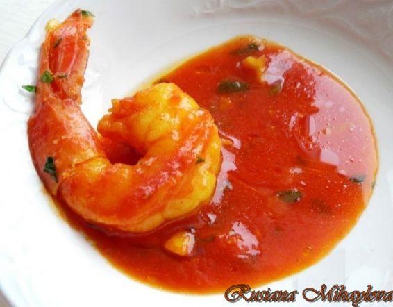 Снимка 1 от рецепта за Скариди в червен сос
