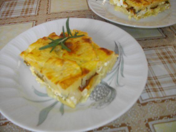 Снимка 1 от рецепта за Огретен от картофи, сирене и печени чушки
