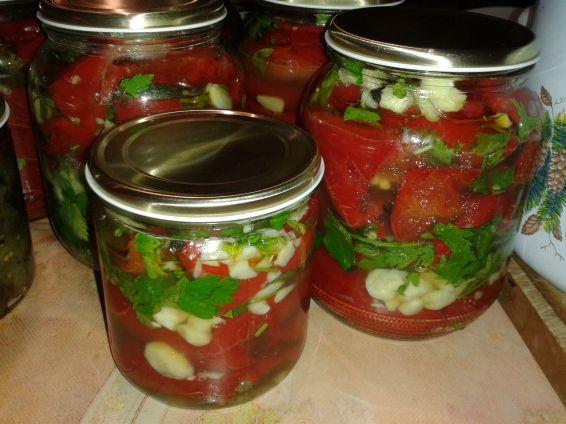 Снимка 1 от рецепта за Парени чушки червена капия