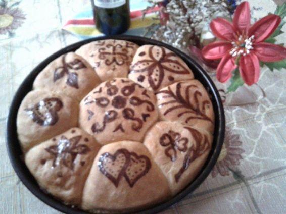 Снимка 1 от рецепта за Рисувана пита с плънка