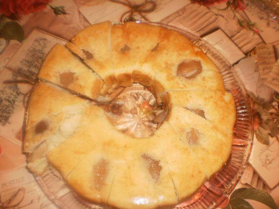 Снимка 1 от рецепта за Кекс с компот от праскови