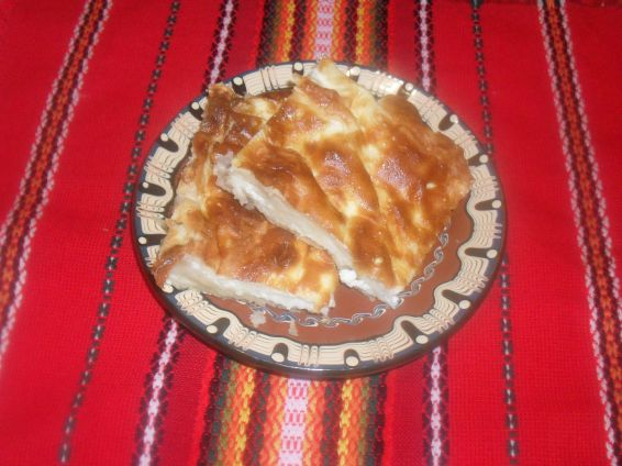 Снимка 1 от рецепта за Баница със сирене и захар
