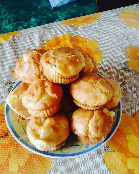 Снимка 1 от рецепта за Солени мъфини с кашкавал или сирене