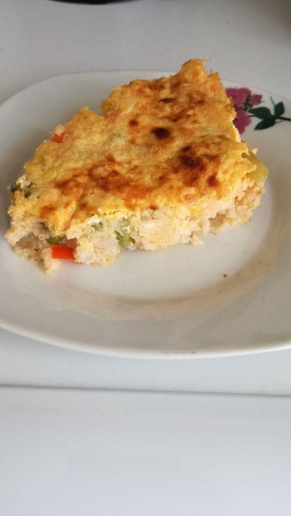 Снимка 1 от рецепта за Яйчено покривало на ориз