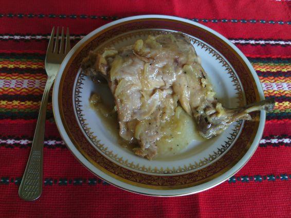 Снимка 1 от рецепта за Задушен заек с бяло вино
