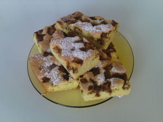 Снимка 1 от рецепта за Сладкиш с ябълка и орехи