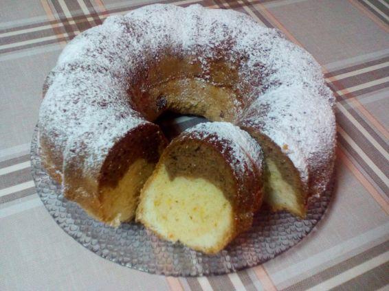 Снимка 1 от рецепта за Шарен кекс с портокалов сок