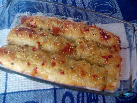 Снимка 1 от рецепта за Рула с картофи, чушки и лук