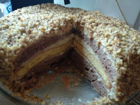 Снимка 1 от рецепта за Орехова торта с какао