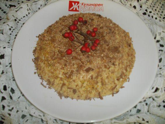 Снимка 2 от рецепта за Бърза торта с ябълки без печене