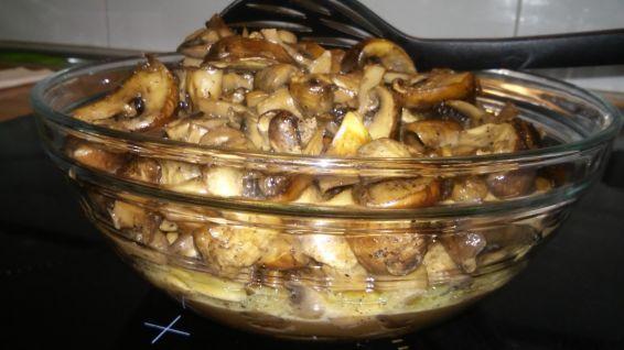 Снимка 6 от рецепта за Гъби с масло на фурна