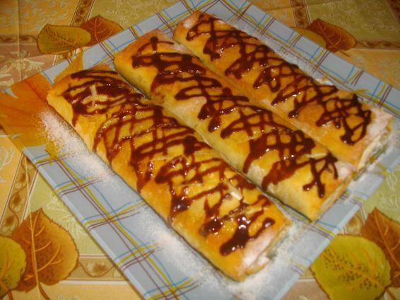 Снимка 4 от рецепта за Ябълков щрудел с лешници