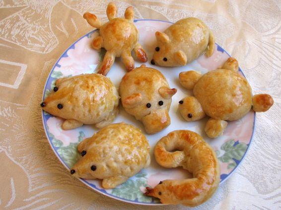 Снимка 1 от рецепта за Животни от тесто