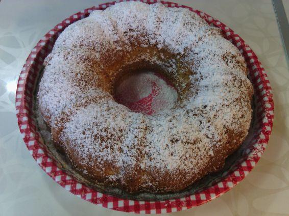 Снимка 2 от рецепта за Кекс със сладко от малини