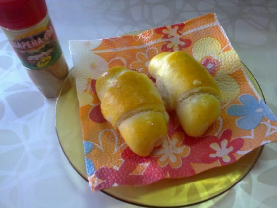 Снимка 6 от рецепта за Кифлички с настърган кашкавал