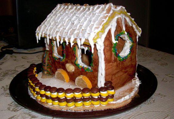 Снимка 5 от рецепта за Медена коледна къщичка