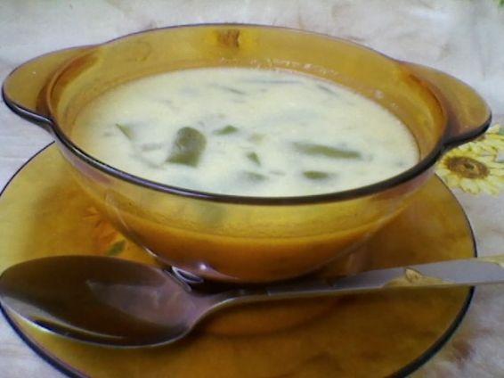 Снимка 2 от рецепта за Млечна супа от зелен фасул