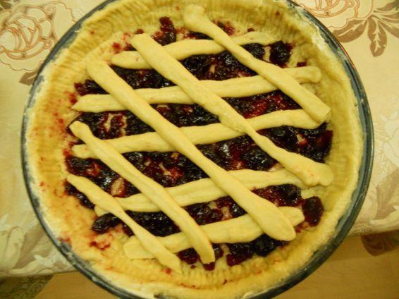 Снимка 1 от рецепта за Пай с конфитюр от вишни