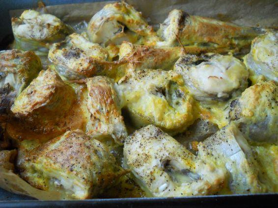 Снимка 2 от рецепта за Паниран хек на фурна