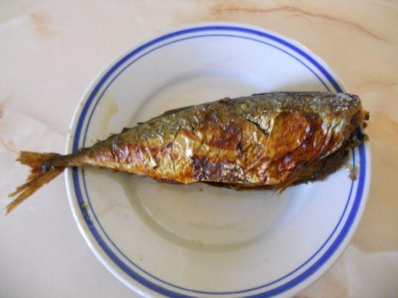 Снимка 2 от рецепта за Печена риба скумрия