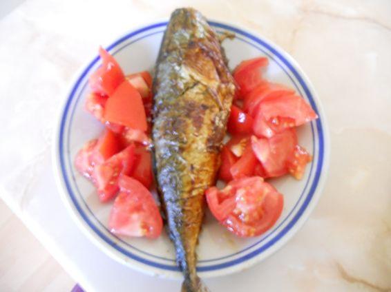 Снимка 3 от рецепта за Печена риба скумрия