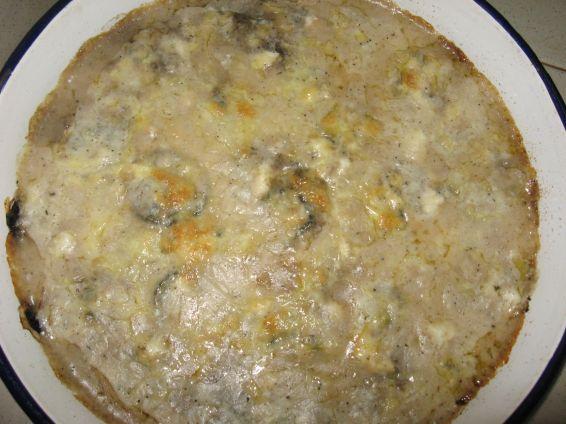 Снимка 6 от рецепта за Печени диви гъби с 3 вида сирена