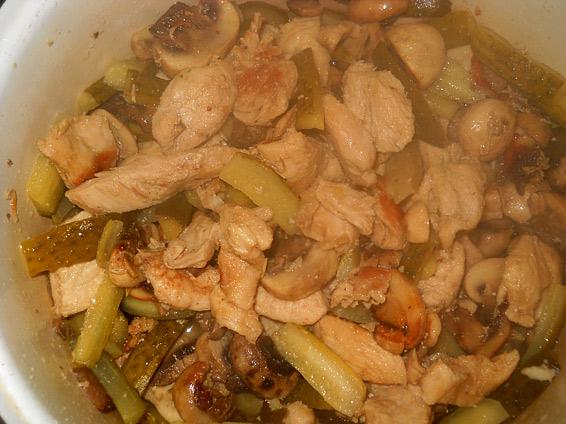 Снимка 2 от рецепта за Пиле `Жулиен`
