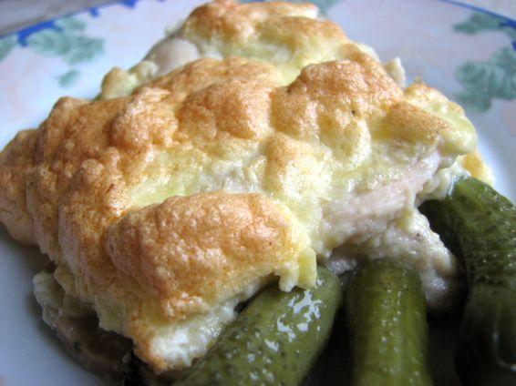 Снимка 1 от рецепта за Пиле с кашкавал и гъби на фурна