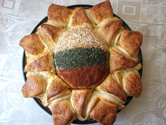 Снимка 1 от рецепта за Пита Слънце за 3-ти март