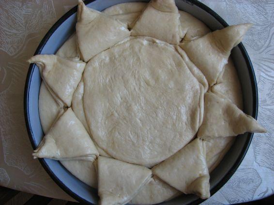 Снимка 4 от рецепта за Пита Слънце за 3-ти март