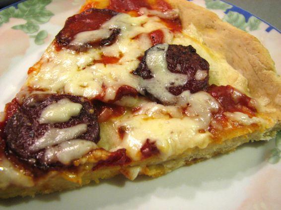 Снимка 1 от рецепта за Пица със салам и чушка
