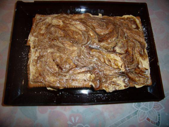 Снимка 4 от рецепта за Постна бисквитена торта
