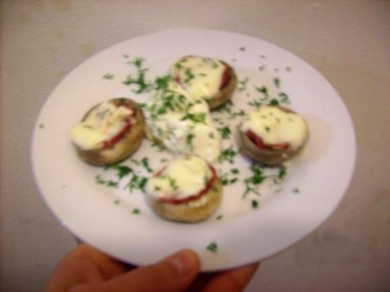 Снимка 4 от рецепта за Пълнени гъби