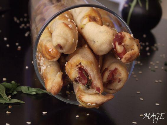 Снимка 2 от рецепта за Пурички с прошуто и рукола