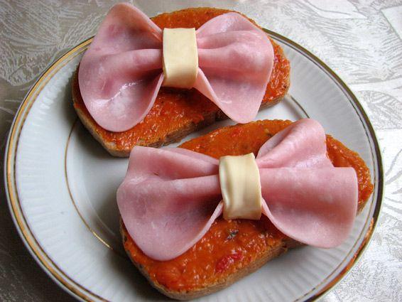 Снимка 1 от рецепта за Сандвич с панделка