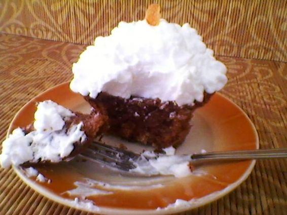 Снимка 2 от рецепта за Шоколадови дунапренени кейкчета