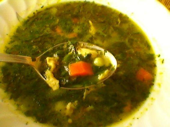 Снимка 2 от рецепта за Спаначена супа с пиле
