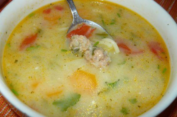 Снимка 3 от рецепта за Супа топчета с картофи