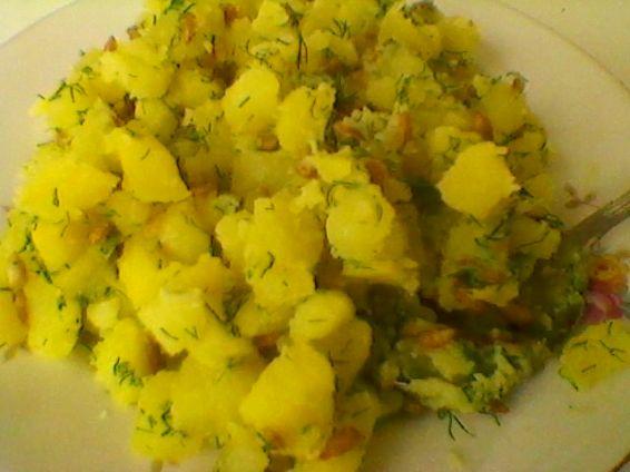 Снимка 2 от рецепта за Запечени `пелмени` с плънка от картофи, копър и слънчоглед