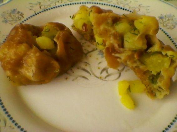 Снимка 6 от рецепта за Запечени `пелмени` с плънка от картофи, копър и слънчоглед