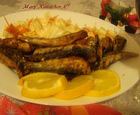 Рецепта за Пържени шпроти с гарнитура